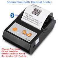 Portable Mini 58mm Bluetooth Thermal Receipt Printer For Windows Android EU Plug