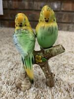 VTG Japan Pair Set of 2 Porcelain Birds Parakeets Figurine Figure Budgies