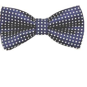 Men's Bow Tie Set Fashion Bowtie+ Hanky Polka Dot Blue Set