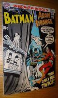 BRAVE AND BOLD #90 BATMAN ADAM STRANGE  NEAL ADAMS COVER  VG/FN