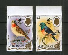 Aitutaki 675-76 ** Vogel  ( Aufdruckmarken , Birdpex 90)