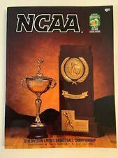 1989 Tournament of Champions NCAA Basketball Program Michigan vs. Seton Hall