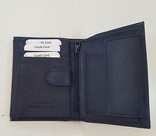 portafoglio uomo 1379 BLU borsello contanti credido vera pelle monete resistente