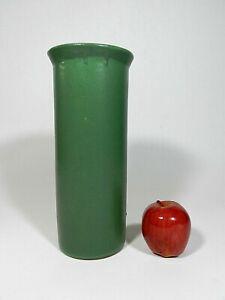 Vintage Matte Green Pottery Vase