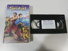 SIMBAD LA LEYENDA DE LOS SIETE MARES - VHS CINTA TAPE CASTELLANO &