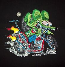 "X LARGE FULLY LICENSED ED ""BIG DADDY"" ROTH RAT FINK CHOPPER HOT ROD BACK PATCH"