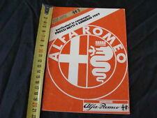 LISTINO PREZZI ALFA ROMEO ACCESSORI ORIGINALI 9 Gennaio 1989 OLD ITALY