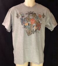 Cross & Roses Catholic Christian T Shirt Small Fleur De Lis Crown LENT EASTER
