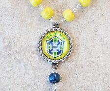 BRASIL JERSEY NECKLACE, Brazil Necklace Neymar jr Tag Soccer Futbol World Cup