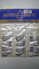 "Halex Master Shafts 1 1/2"" Silver Alloy Dart Shafts & O Rings 12 Packs of 3 NEW"