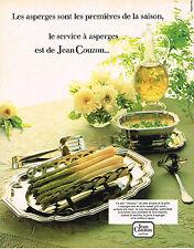 PUBLICITE ADVERTISING 1982 JEAN COUZON art de la table service à asperges 290413