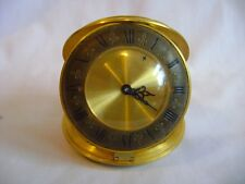 RARE AND UNUSUAL JAEGER ORNATE GILT BRASS DESK / ALARM CLOCK IN GD WORKING ORDER