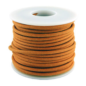20 AWG vintage style solid cloth wire 50' spool ORANGE
