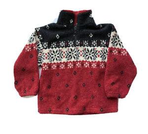 Childrens Place Fleece Half Zip Shirt Boys 5 6 Fair Isle Pullover Jacket Teddy
