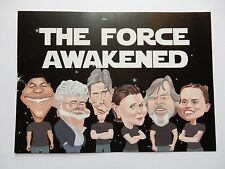 """2 Star Wars Collectable styled """"Postcard"""" The Force Awakened Light Darkness Card"""