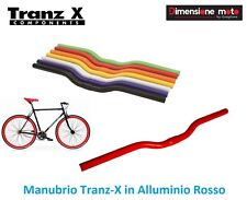 58RK - Manubrio Curvo Tranz-X Alluminio Rosso per Bici 27,5-29 MTB Mountain Bike