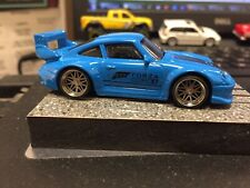 Hot Wheels Porsche 911 GT2 Forza Custom Wheels with Real Riders. Blue