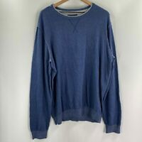 Heritage Report Collection Mens Blue Crew Neck Pullover Sweater Size XL