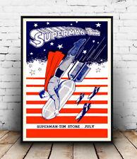 Superman Tim, Publicidad Revista Vintage, Afiche, Pared Arte, reproducción.