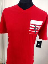 Nike RF Tennis Roger FEDERER Pocket Mens Medium T Shirt 739477-657 PureS