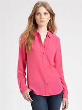 Equipment Brett Silk Blouse, Slim fit, Carmine / Pink, Size L