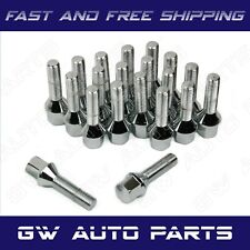20 PCs BMW Chrome M12x1.5 Lug Bolts 24mm Shank Conical Seat Wheel Lug Bolts