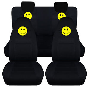 smiley face front+back seat covers fit 2009-2014 SUZUKI ALTO,Airbags Friendly