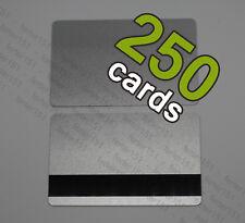 250 Silver Pvc Cards HiCo Magnetic Stripe 3 Track - Cr80
