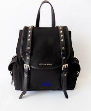 NWT  MICHAEL Michael Kors Leila Nylon Small Flap Backpack ~ Black