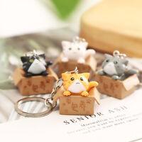 Cartoon Cute Cat Pendant Keychains Metal Key Rings Women Bag Car Key Chain Gi_ha