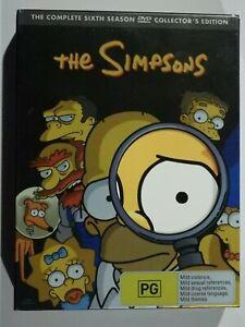 The Simpsons The Complete Sixth Season (Season 6) 4 Disc Set DVD TV Show GOOD