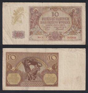 Polonia 10 zlotych 1940 BB-/VF-  C-06