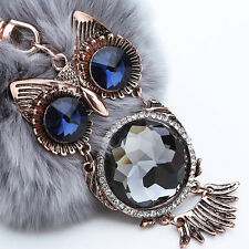 Hot Lovely Ball Key Chain The Owl Car Accessories Fashion Metal Key Chain Gray