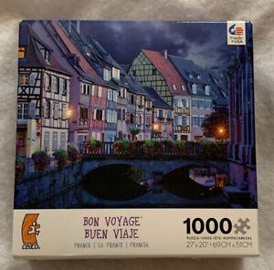 "Ceaco Bon Voyage France Colmar 1000 Piece Jigsaw Puzzle 27"" x 20"""