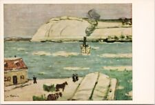 James Wilson Morrice Art The Ferry, Quebec Unused Vintage Postcard C2