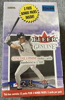 2001 Fleer Genuine Baseball Factory Sealed 14 CT Retail Box