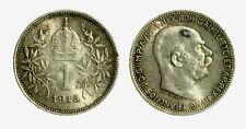 pcc2128_96)  Franz Joseph I 1 Korona 1915 AG Toned