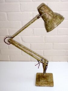 Vintage Herbert Terry ANGLEPOISE 1227 Lamp Gold Scumble Marbled For Restoration