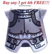 ☀️NEW Lego Silver Decrotive Kingdoms Breastplate Chest Armor Castle Knight Body