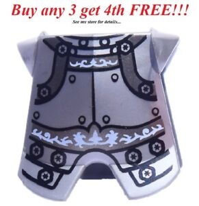 ☀️NEW Lego Silver Breastplate Chestplate Armor Castle Heroic Knight pattern