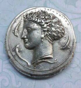 coin Sicily, Syracuse AR Dekadrachm. Time of Dionysios I, circa 405-370 BC