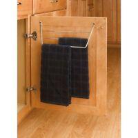 Chrome Cabinet Door Mount Dish Towel Holder Storage Organizer Metal Kitchen Rack