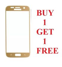 Tempered Glass Film FULL Screen Protector for Samsung Galaxy S7 GOLD * 2 for 1
