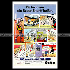 #phpb.001868 Photo GEHA SUPER SHERIFF & LUCKY LUKE BY MORRIS 1986 Advert Reprint
