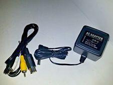 NEW AV Cable + 10 Volt 1000 mA  AC Power Supply Adapter for Turbo Duo P6