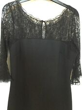 dress Black lace sleeves and shoulder area, knee length wallis size 12