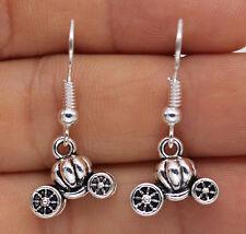925 Silver Plated Hook - Pumpkin Carriage Car Lovely Women Party Earrings #61