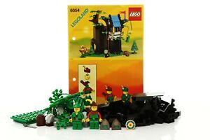 Lego Castle Forestmen Set 6054 Forestmen's Hideout 100% complete + instr. 1988