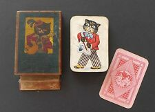 Vintage Schwarzer Peter Old Maid Playing Cards Game Germany Antique Quartett