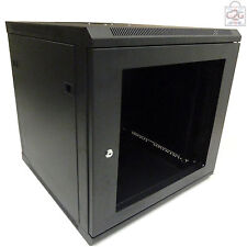 15U 600mm Black Wall Cabinet Network Data Rack For Patch Panel, PDU & LAN Switch